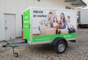 Product image of Single axle luggage trailer (E4)
