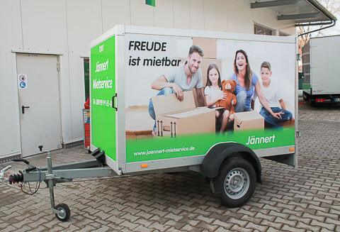 Single axle luggage trailer