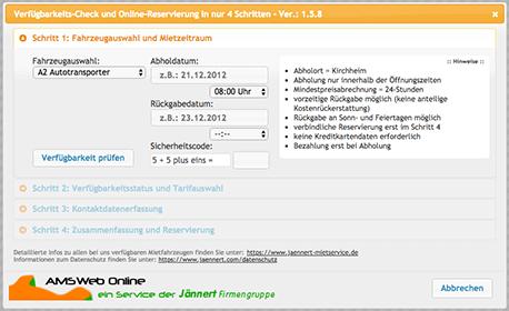 Online Reservierungssystem